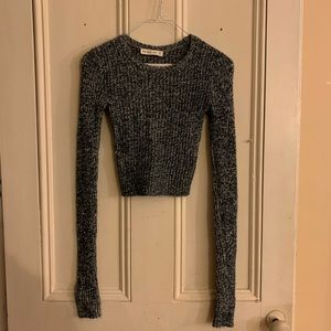 Cropped Abercrombie and Fitch Knot Sweater